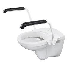 toiletbeugelset staal wit
