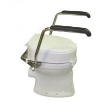 Toiletbeugelset RVS met toilethoger en deksel