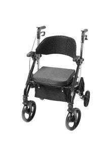 2 in 1 rollator / rolstoel (transportstoel), wit - NIEUW IN ONZE COLLECTIE!